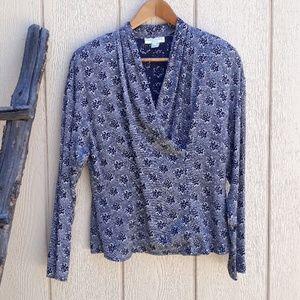 Vintage Long Sleeve Blouse Cirsscross Ann Taylor 4